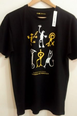 Camiseta Peruaçu Preta Masculina