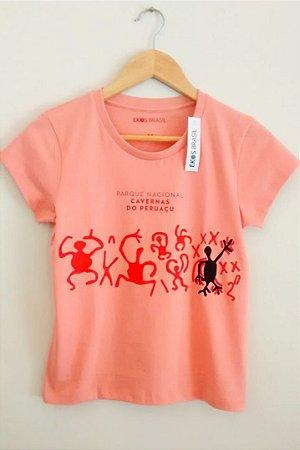 camiseta Peruaçu Salmão Feminina