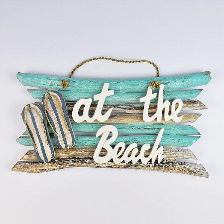 Enfeite Rústico At The Beach Turquesa