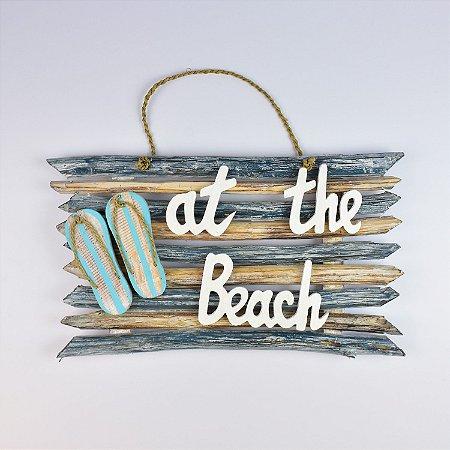 Enfeite Rústico At The Beach Azul