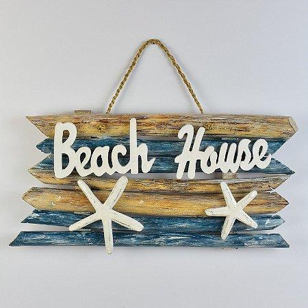Enfeite Rústico Beach House Azul