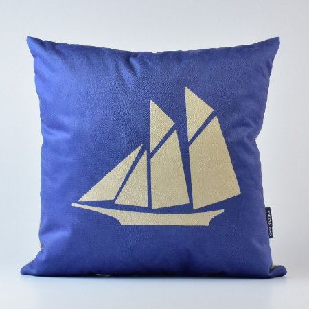 Almofada Náutica Azul Barco