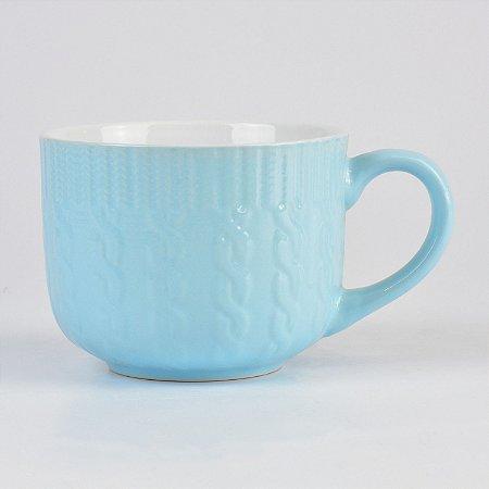 Caneca Tricot Azul Claro