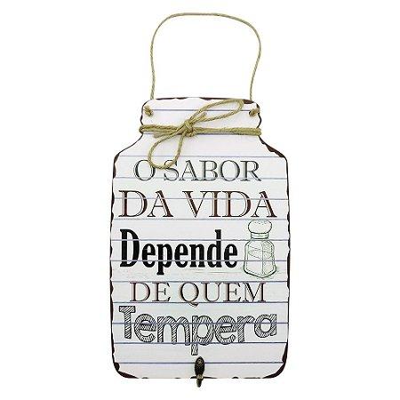 Decorativo de Madeira Tag O Sabor da Vida