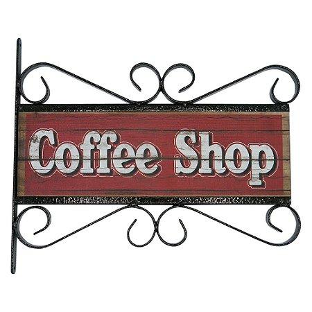 Placa Vintage Aramado Coffee Shop