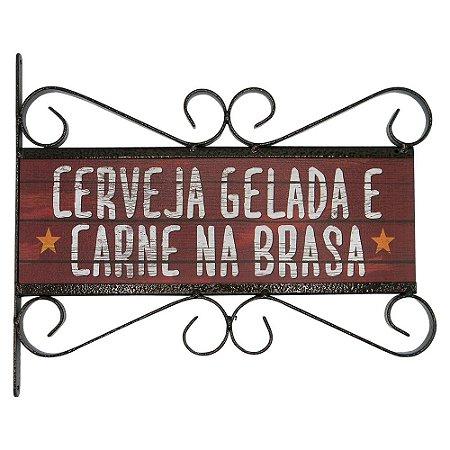 Placa Vintage Aramado Cerveja Gelada