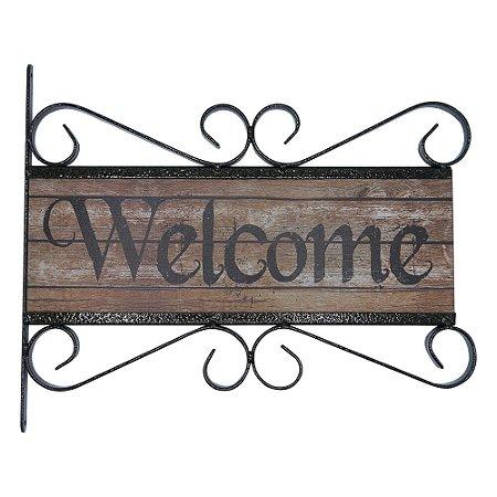Placa Rústica Welcome