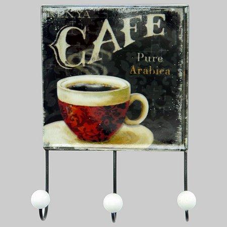 Cabideiro de Parede Vintage Coffee