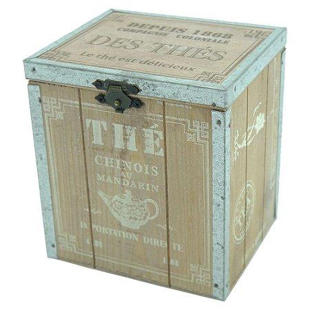 Decorativo Caixa de Madeira Marrom