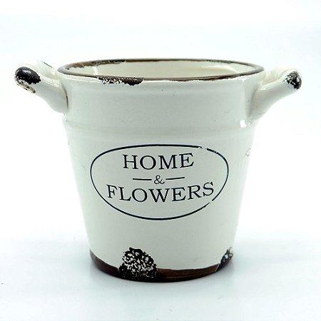 Vaso de Cerâmica Home & Flowers
