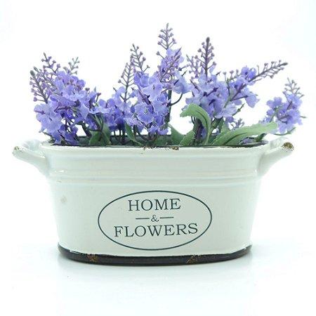 Vasinho Tina de Cerâmica Home&Flowers