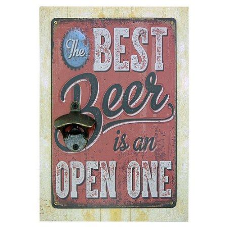 Abridor de Garrafa Parede The Best Beer