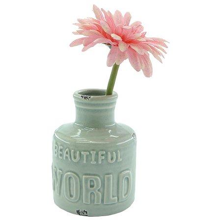 Vaso de Cerâmica Beautiful World