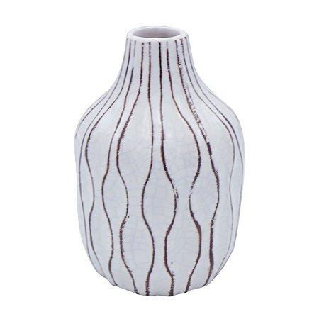 Vaso de Cerâmica Bottle Branco