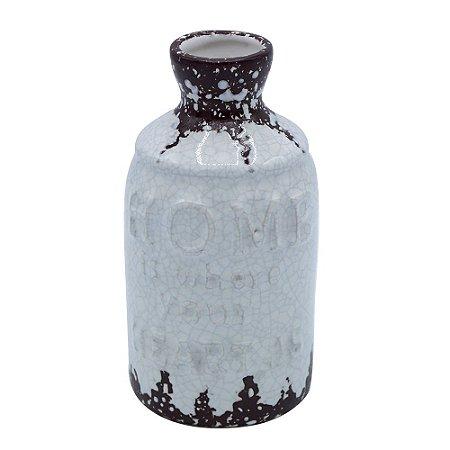 Vaso de Cerâmica Rústico Garden Branco