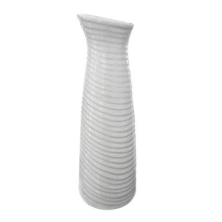 Vaso de Cerâmica Elegance Branco