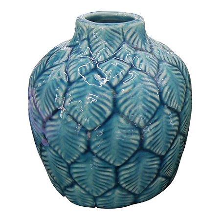 Vaso de Cerâmica Folhas