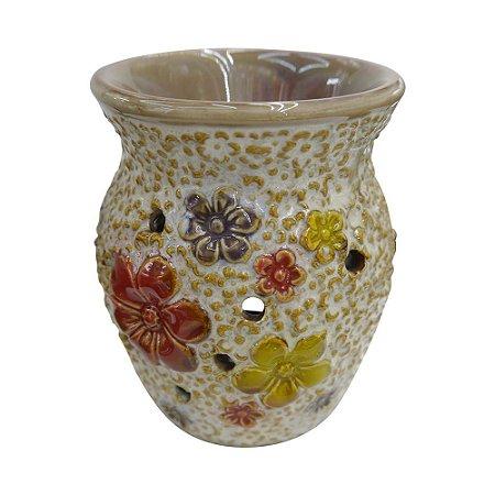 Aromatizador de Cerâmica Floral