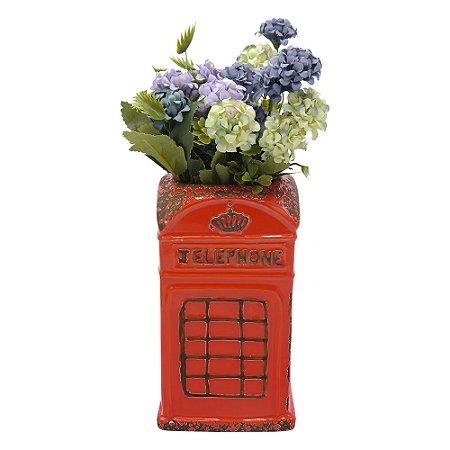 Vaso de Cerâmica Vermelho Cabine Londres