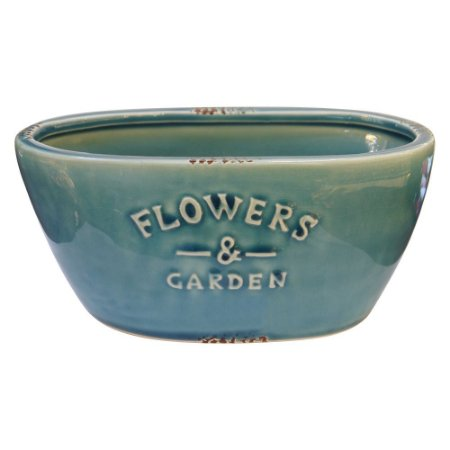 Vaso de Cerâmica Azul Flowers