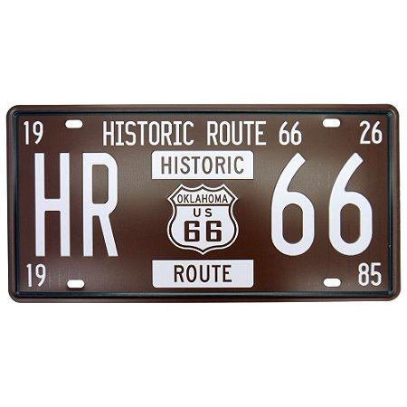 Placa decorativa de Metal Historic 66