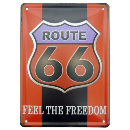 Placa decorativa de Metal Route 66