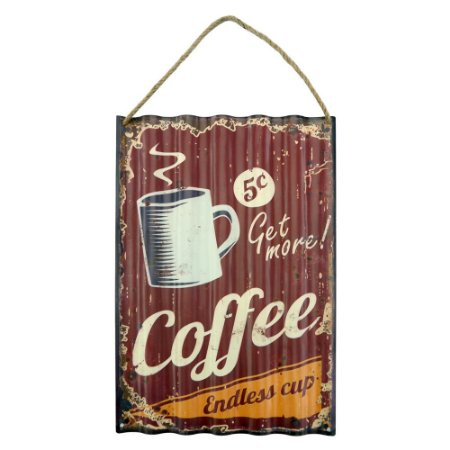 Placa de Metal Fresh Coffee