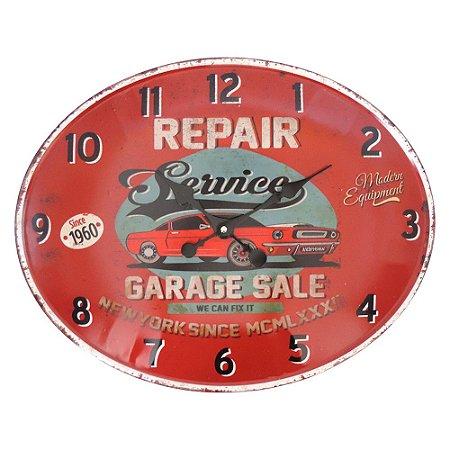 Relógio de Parede Vintage Service Vermelho