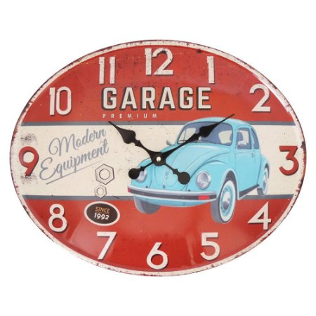 Relógio de Parede Garage