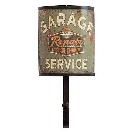 Cabideiro de Parede Rústico Garage Service
