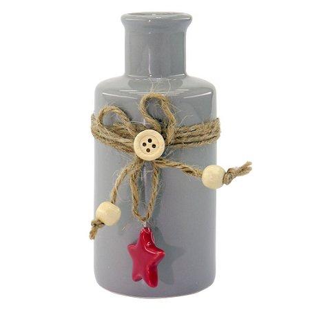 Vaso de Cerâmica Cinza