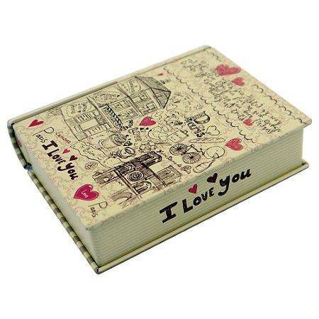 Porta objeto Caixa de Metal Romantic