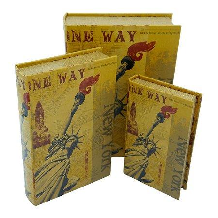 Porta Objetos c/ 3 Livros New York
