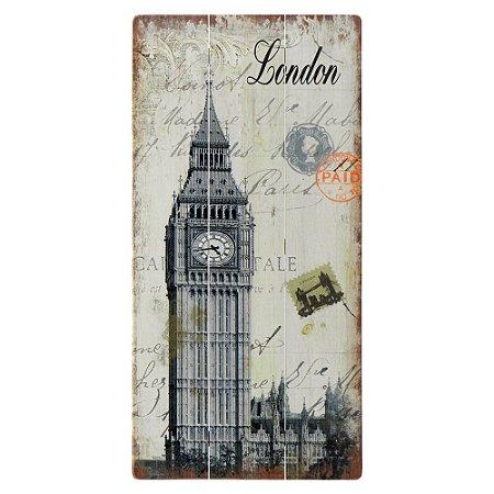Placa de Madeira London
