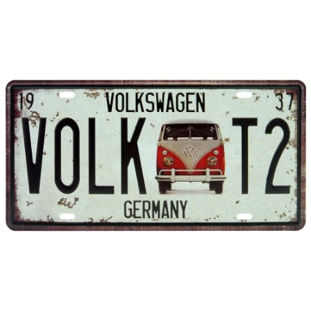 Placa decorativa de Metal Kombi Volk T2