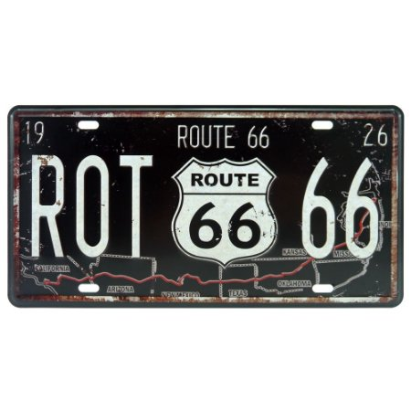 Placa decorativa de Metal Route 66 1926