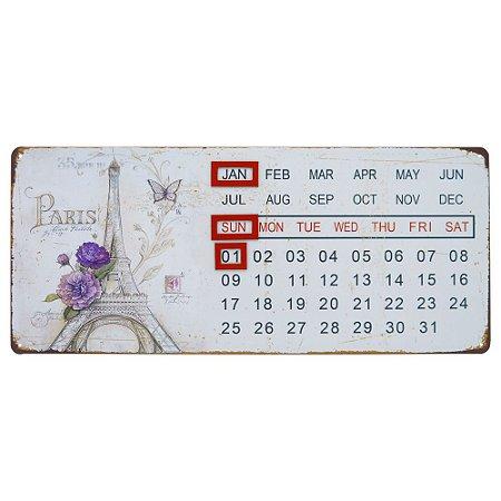 Calendário Permanente vintage Paris