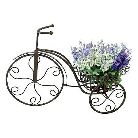 Vaso de Metal Floreira Bicicleta Rústica