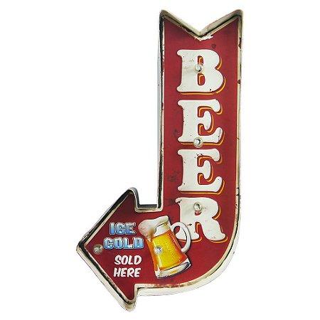 Placa de Metal decorativa Cold Beer