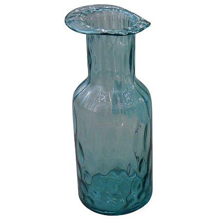 Vaso de Vidro Caribenho Azul