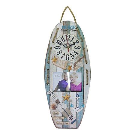 Relógio com Porta Retrato Sea