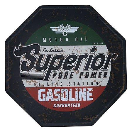 Placa Vintage Gasoline
