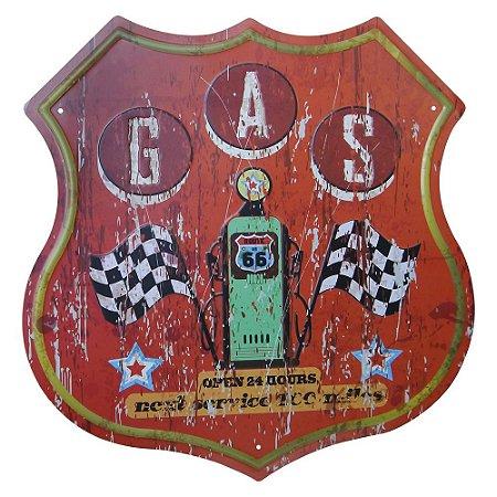 Placa de Metal Decorativa G.A.S