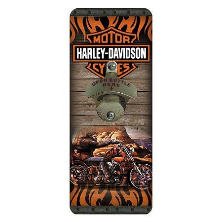 Abridor de Garrafa de Parede Harley Davidson