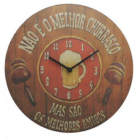 Relógio Churrasco com Melhores Amigos