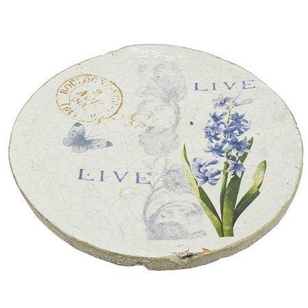 Prato De Cerâmica Lavanda
