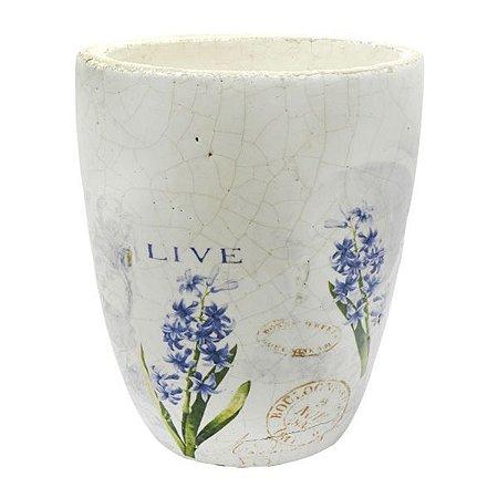 Vaso de Cerâmica Lili Lavanda Médio