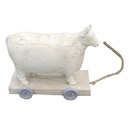 Vaca de Resina Decorativa