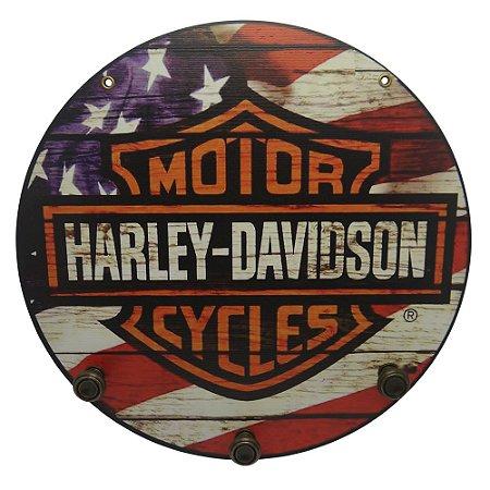 Placa Harley com Cabideiro