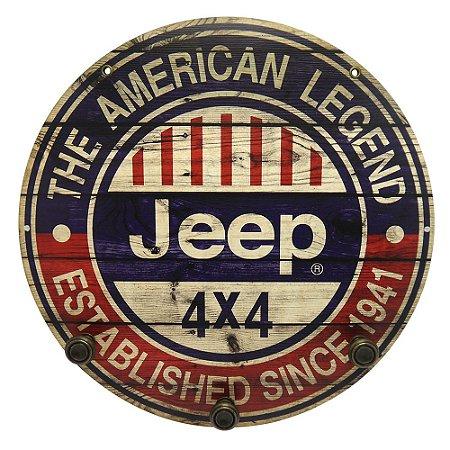 Placa Jeep com Cabideiro